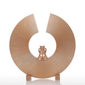 Fortune Cat Resin Sculpture Modern Art Home Decor Statue Figurine Ornament For Home Office
