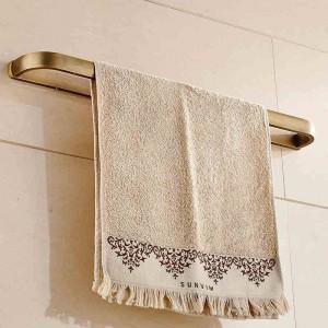 Towel Bars 60cm Solid Brass Bathroom Shelf Towel Holder Hanger Towel Single Rail Wall Bathroom Accessories Towel Rack F81324