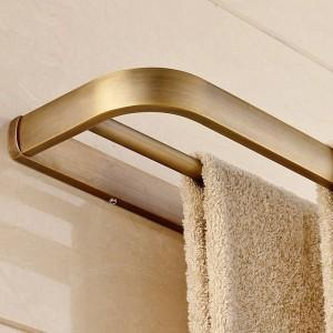 Towel Bars Solid Brass Double Rails 60 cm Towels Holder Bathroom Shelves Wall Mount Bathroom Accessories Towel Hanger F81348