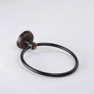Towel Ring Luxury Black Hanger Towel Rings Antique Towel Ring for Hotel Bathroom Accessories Home Decorative Useful HJ-1207