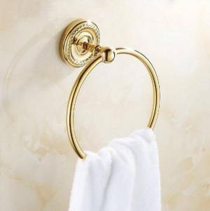 Towel Rings Antique Brass Wall Mounted Rack Towel Holder Bath Shelf Towel Hangers Storage Bathroom Accessories Towel Bar 9141K