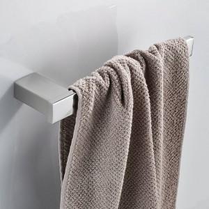 Towel Rings Black SUS 304 Stainless Steel Towel Bars Holder WC Towel Hangers Storage Wall Mounted Bath Hardware Set 610007