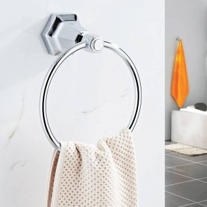 Towel Rings Solid Brass Gold Wall Mounted Towel Holder Hangers Towel Rack Bathroom Accessories Home Decoration Towel Bar 93007