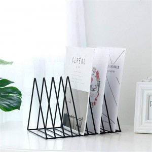 Triangular Metal Table Storage Basket European Chic Nordic Desk Storage Basket Magazine Paper Documents Organizer Home Decor S L
