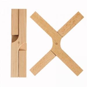 Trivet Mat Heat Resistant Wooden Foldable Hot Pad Trivet Pad for Kitchen