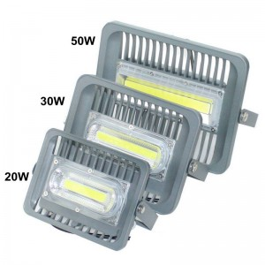 Ultrathin LED flood light 50W high brightness aluminum AC110V 220V input waterproof outdoor COB led Floodlight Spotlight for DIY