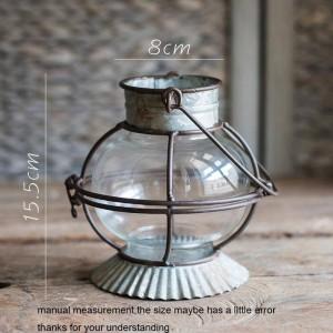 Vintage Candle Holder Wind Light Metal Iron Art Aromatherapy Candle Base Tea Ceremony Decoration Crafts Art Hanging Night Light
