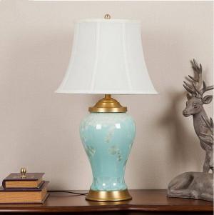 Vintage porcelain ceramic table lamp bedroom living room wedding table lamp art deco table lamp