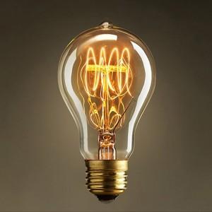 Vintage E26 Ball-Typed Edison Style 40 Watt Retro Incandescent Light Bulb 110V