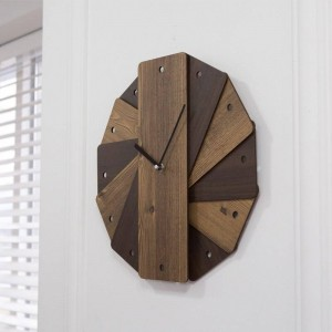 Vintage garden wall clock creative living room round wall decoration bedroom mute clock decoration shabby chic wall clock
