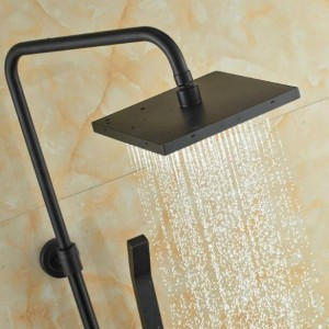 Wall Mount Good Quality Bathroom Rain Shower Mixer Faucet Set Single Handle Bath Shower Mixers with Tub Spout XT352