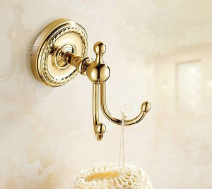 Wall Mounted Golden cloth Hook Bathroom Accessories Robe hardwares Hooks