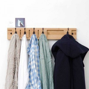 Wandkapstokken, Bamboo Minimalist Hook Rack For Clothes,WSHYUFEI Hats And Coat Hooks Bedrooms Bathrooms Towels, Mobile Terminal
