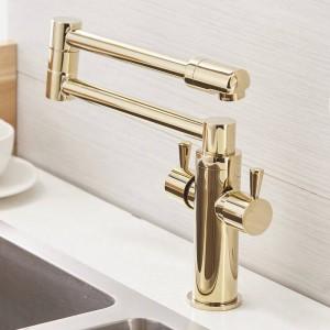 Water Taps Water Mixer Brass Material Mixer Faucet Kitchen Sink Faucet Kitchen Water Mixer Top Quality 720 Rotate Crane LAD-9912