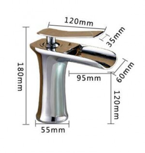 Waterfall Basin Faucet Brass Mixer Hot Cold Mixer Basin Tap Chrome/Black/Antique/Nickel Brushed Bathroom Faucets