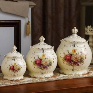 wedding decoration Sealed pot ceramics storage tank grain miscellaneous grains tea cans pickles jars kitchens candy cans