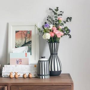 West European Style Flower Vase Home Deco Desktop Ceramic Vases For Dried Flowers gift
