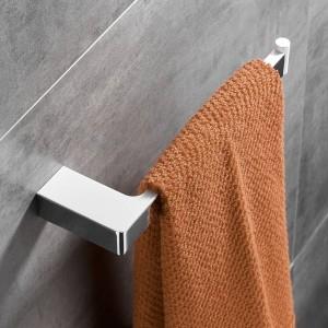 White +Chrome Zinc Alloy Towel Ring Robe Hook Toilet Brush Holder Towel Bar Bathroom Accessories Set Paper Holder FM-5700WL