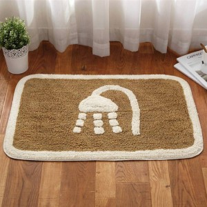 Winter thick warm bathroom living room floor mat door mat home bedroom cotton carpet bathroom absorbent non-slip mat
