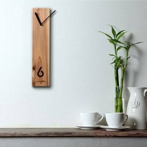 Wood clock Creative wooden clock Log clock Silent design Living room wall clock Office meeting table