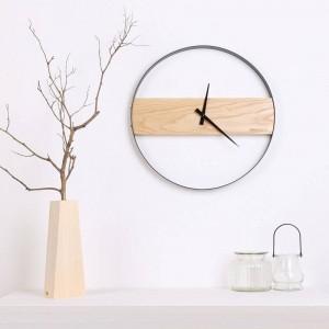 Wood wall clock Living room minimalist wood clock Creative fashion clock Modern minimalist table Wall clocks