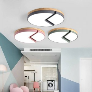 Wooden Ceiling Lights Remote control For Living Room Bedroom lighting fixture Square Ceiling Lamp home Decorative Lampshade