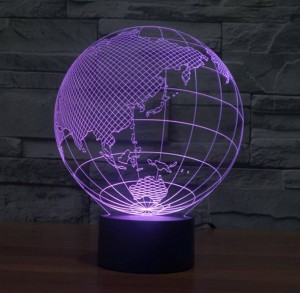 World map shape touch New Night Lights Globe map shape acrylic 3D illusion lamp children kids bedroom Decoration Led night lamp