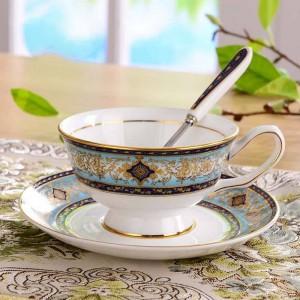 Advanced Bone Porcelain Tea Cups and Saucers Sets Ceramic Coffee Cups