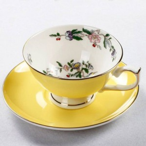 European Afternoon Tea Cup And Saucer Ceramic Coffee Cups Cake Plate Set Teacup Porcelain Cafe Party Teatime