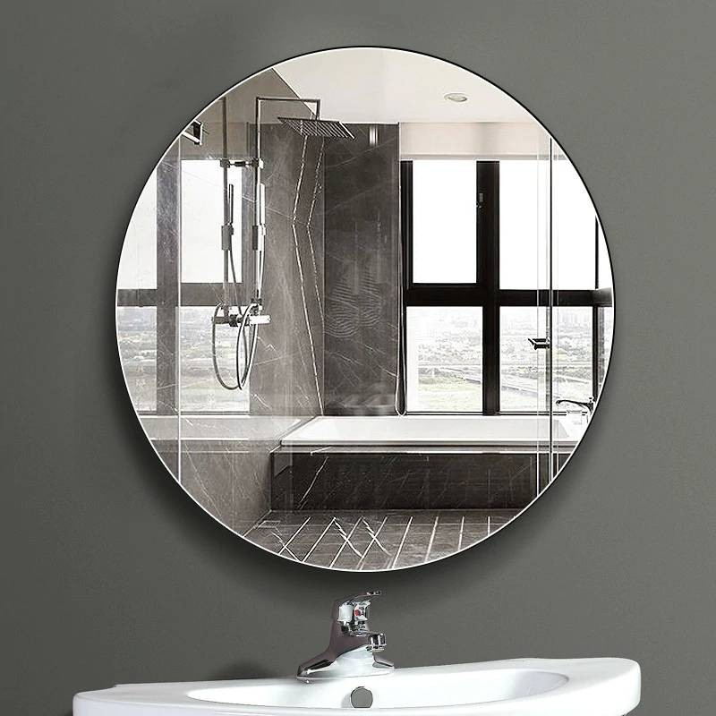 Luxury Bathroom mirror wall hanging round bath large ...