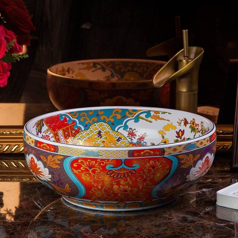 Luxury Ceramic Art Basin Hotel Wash Basin bathroom ...