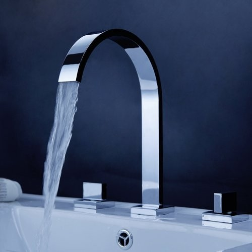 Gold Waterfall Bathroom Faucet