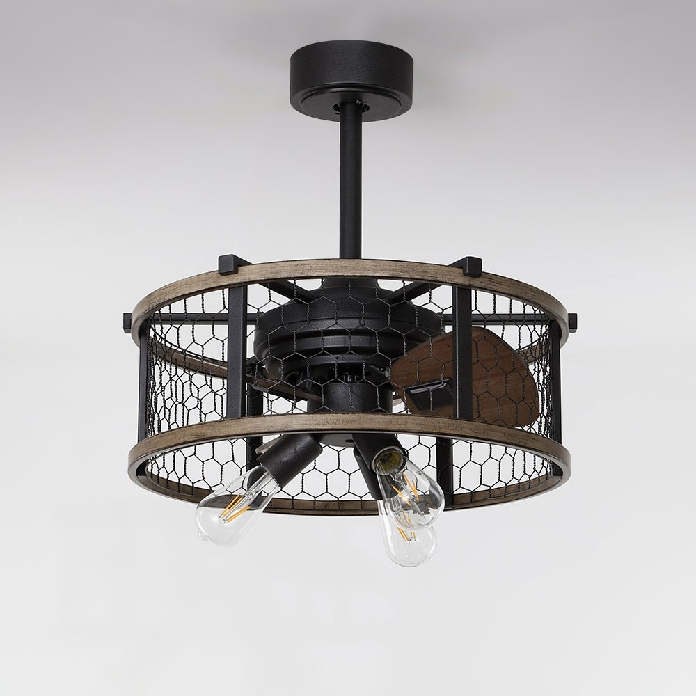 Luxury Farmhouse Rustic Reversible Ceiling Fan With Lights