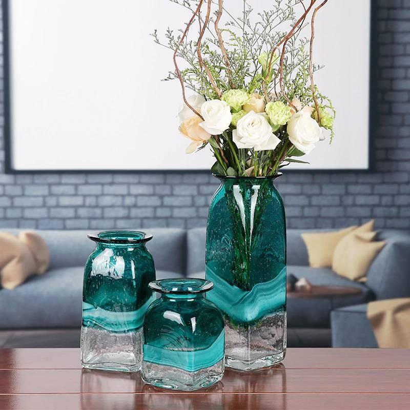 Luxury Glass Vase Modern Minimalist Living Room Table Home ...