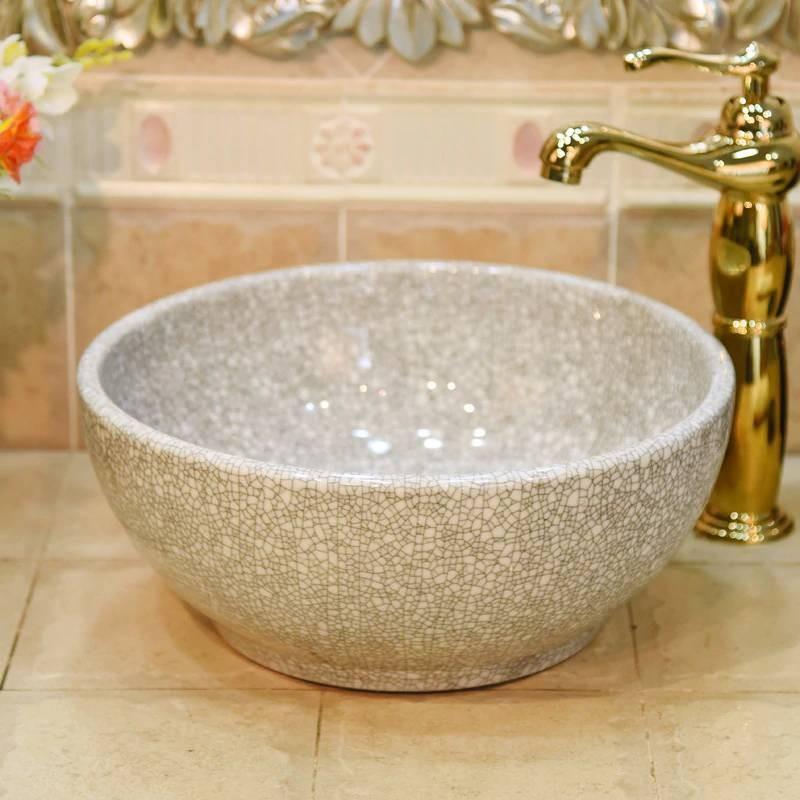 Luxury Ceramic Green Crack Small 30cm Wash Basin Sink Bathroom Sink Bowl Countertop Ceramic Wash Basin Mini Ceramic Green Crack Small 30cm Wash Basin Sink Bathroom Sink Bowl Countertop Ceramic Wash Basin