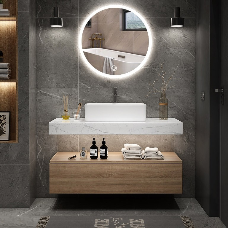 Luxury Modern 36 40 Floating Wall Mount Single Bathroom Vanity Set With Faux Mable Top Vessel Sink White Natural White Black Modern 36 40 Floating Wall Mount Single Bathroom Vanity Set With Faux