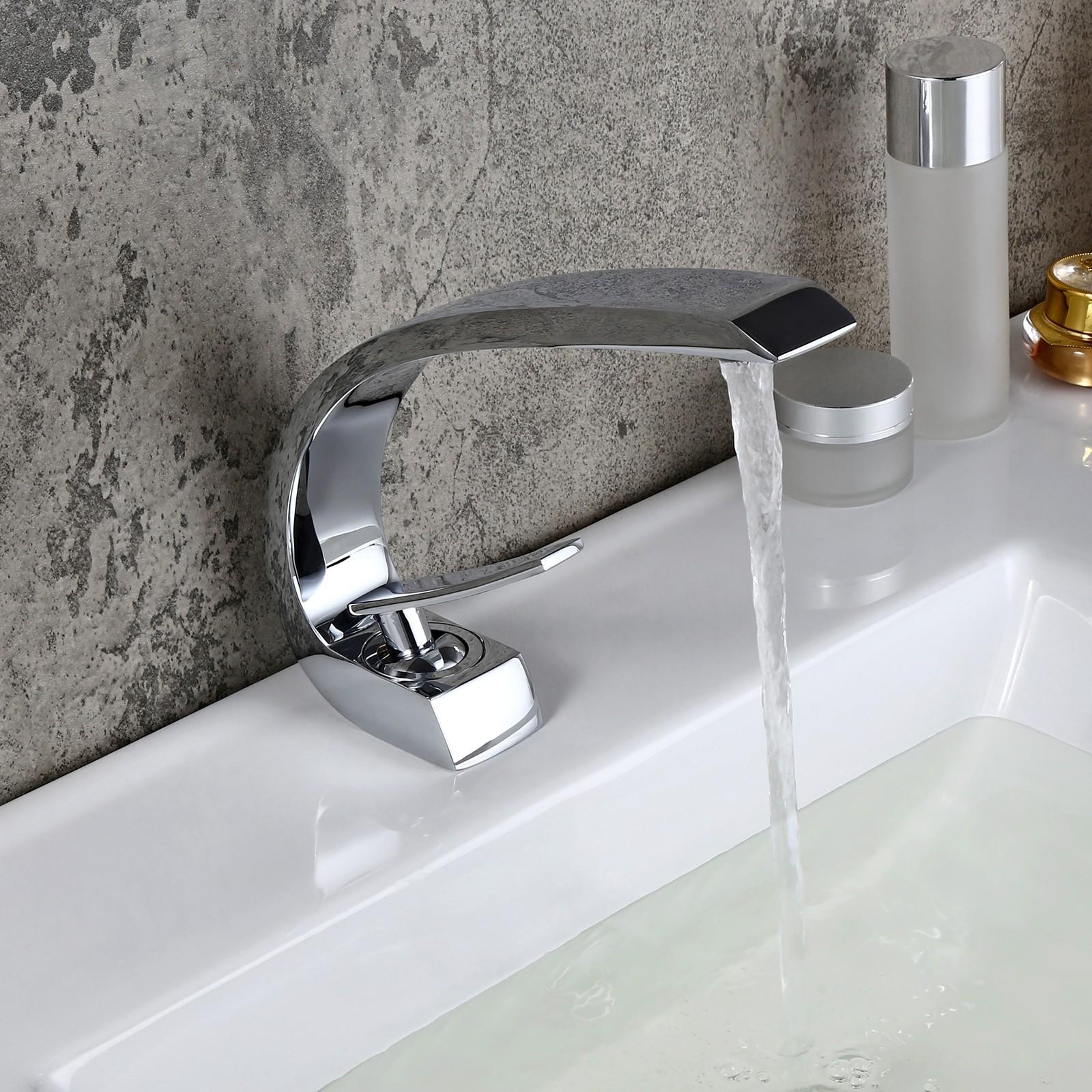 Elegant Bathroom Faucet Modern Curved