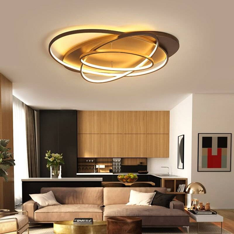 luxury modern led ceiling lamp coffee and white color led