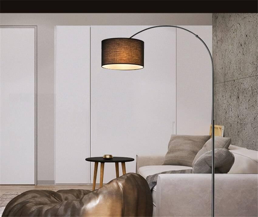 Luxury Nordic Cloth Shade Loft LED Floor Lamps Standing ...
