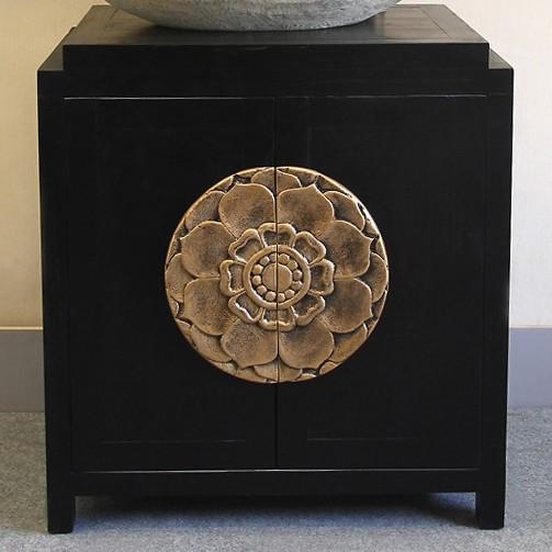 Luxury Rustic Oriental 28 Black Single, Oriental Bathroom Vanity