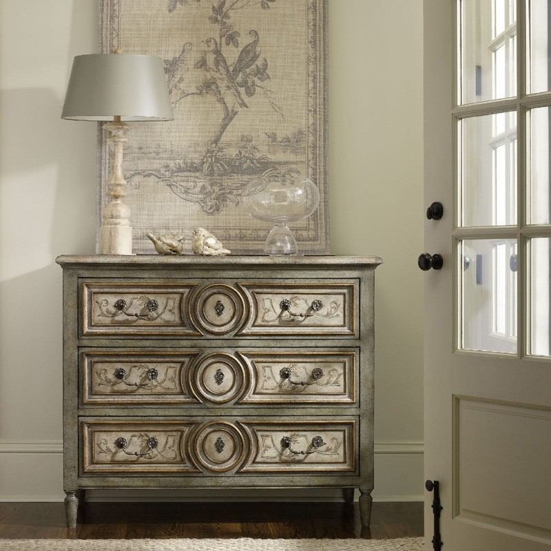 """Luxury Rustic Vintage 46"""" Accent Cabinet 3 Drawers Chest ..."""