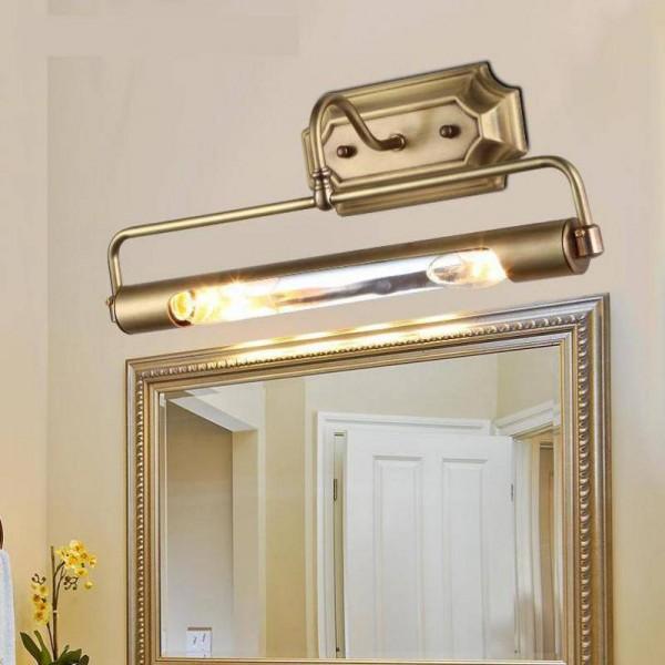 Salle de bains Or Miroir lumière frant longue tube lumière murale anti-rouille pour vestiaire projet projet placard fixé au mur Led miroir lumière