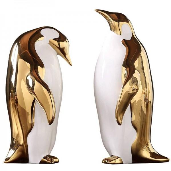 Or Céramique Ornements Pingouin Accueil Salle Modèle Salon Tv Cabinet Cabinet À Vin Bureau Décoration Cadeaux