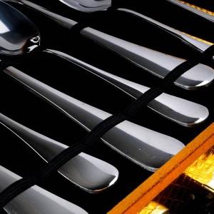 24 PCS couverts en argent coffret cadeau fourchette couteau en acier inoxydable