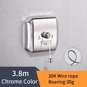 Étagères de salle de bains Corde à linge en acier inoxydable Belle qualité Ligne unique Style de vêtements Ligne de séchage pour salle de bains HJ-1256