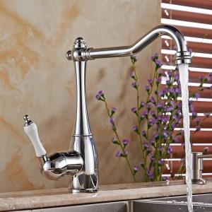 Robinet de lavabo Robinet de salle de bain pour la cuisine et la cuisine Robinet de salle de bain Mitigeur d'évier de cuisine Robinet Mitigeur LH-6030L