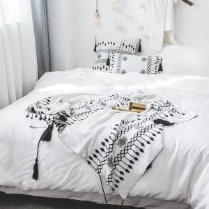 Bohême Throw Couverture Canapé Décoratif Housse De Luxe Cobertor Décorations De Noël Maison Non-slip Couture Plaid Couvertures