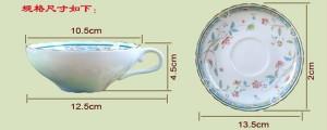 Tasse à thé en os après-midi tasse de café de qualité isonucléaire allocytoplasmic fashion tasse à café et soucoupe ensemble