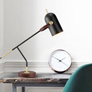 Bref décoration moderne lampe de table bureau lumière noir nordique E27 led lampe chambre éclairage simple art de la maison décoratif