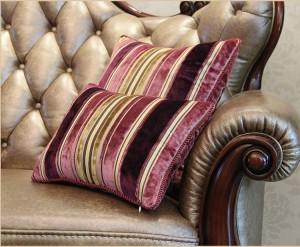 Luxe chic et classique Profitez de la couverture de coussin décoratif de voiture de canapé de détail de géométrie Stripe taie d'oreiller, 1pc